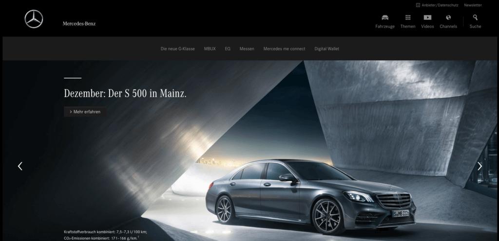 Mercedes-Benz.com - Auch eine WordPress Website