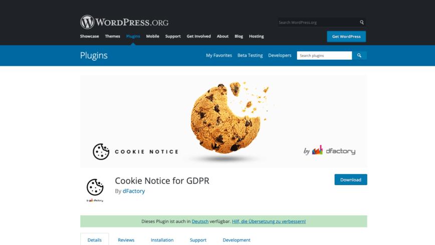 "WordPress: Plugin ""Cookie Notice for GDPR"" um Opt-Out ergänzen"